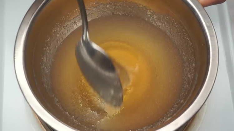на плиту ставим  желатин