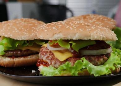 Рецепт вкусного бургера 🥝 в домашних условиях