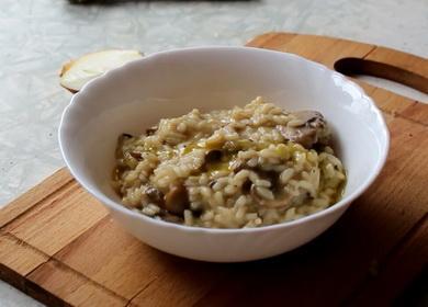 Простой рецепт вкусного 🥝 ризотто с грибами