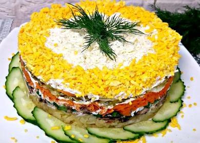 Вкуснейший салат «Нежность» 🥝 со шпротами