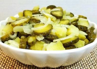 Вкуснейший салат с солеными 🥝 огурцами