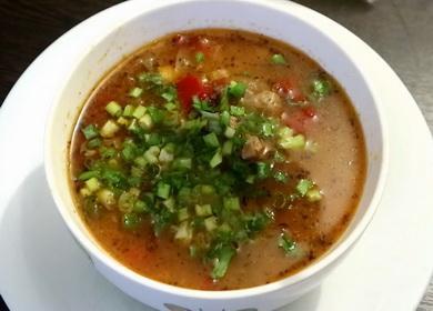 Густой суп из говядины 🥝