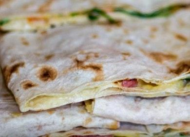 Быстрые бутерброды из лаваша 🥝 на завтрак