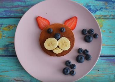 Красивый завтрак для детей 🥝