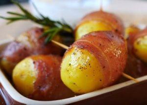 Готовим ароматный картофель с беконом в духовке по пошаговому рецепту с фото.