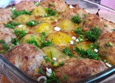 Котлеты с картошкой 🥝 в сметанном соусе в духовке