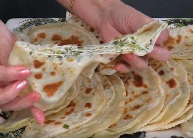 Вкусные кутабы с сыром 🥝 и зеленью