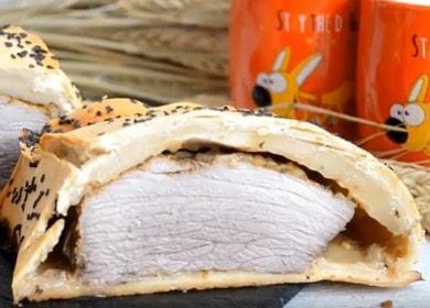 Запеченное мясо в тесте 🥝 в духовке