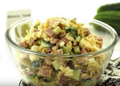 Необычный салат из роллтона 🥝 с колбасой