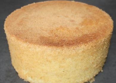 Бисквит на кипятке 🥝 по пошаговому рецепту с фото