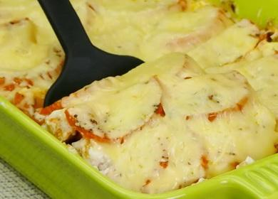 Нежная куриная грудка 🥝 с овощами в духовке