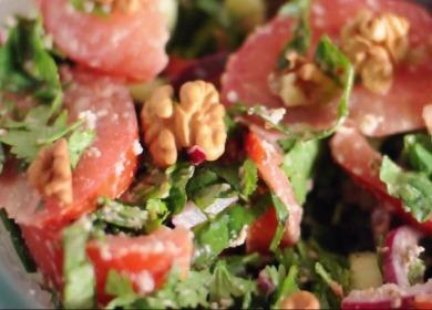 Вкусный грузинский салат 🥝 с грецкими орехами