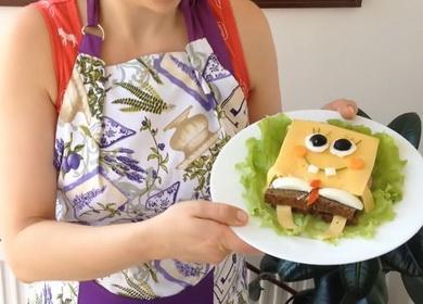 Бутерброды для детей 🥝 «Губка Боб»