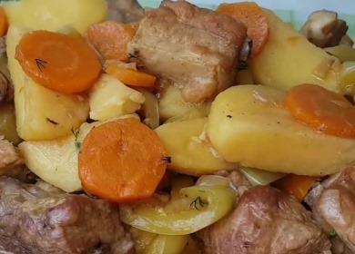 Вкусное жаркое с мясом 🥝 и картошкой