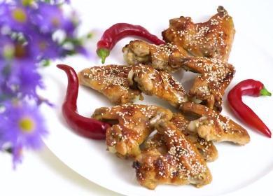 Очень вкусные крылышки 🥝 в медово-соевом соусе