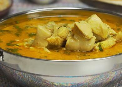 Курица карри в кокосовом 🥝 молоке — индийский рецепт