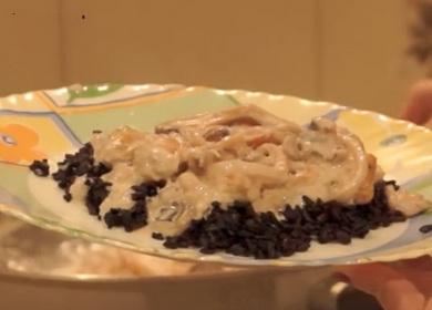 Вкусные морепродукты в сливочном 🥝 соусе