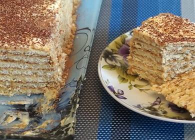 Легкий торт из печенья 🥝 с заварным кремом