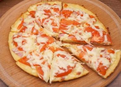 Пицца на сковороде за 10 минут 🥝 по пошаговому рецепту с фото