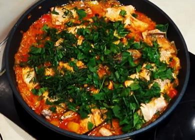 Вкусная и сытная рыба 🥝 с овощами