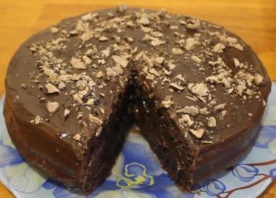Рецепт вкусного пражского 🥝 торта в мультиварке с фото
