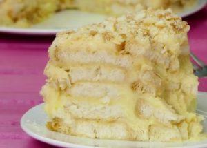 готовим фантастический торт из печенья ушки