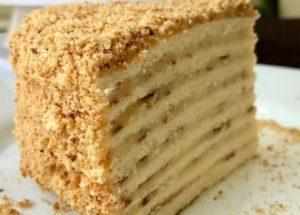 готовим необычный торт на сковороде со сгущенкой