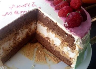 Вкусный и нежный торт 🥝 с безе и бисквитом