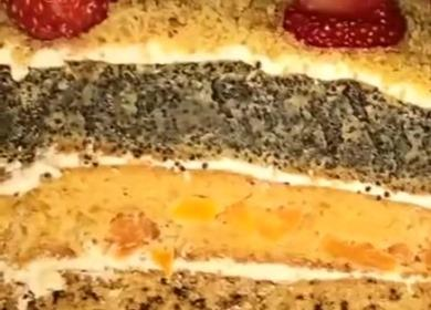 Вкусный торт «Лакомка» 🥝 с маком