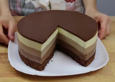 Невероятно вкусный торт 🥝 «Три шоколада»