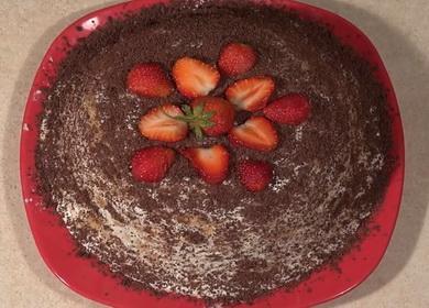 Сытный и вкусный торт из печенья без выпечки с бананом