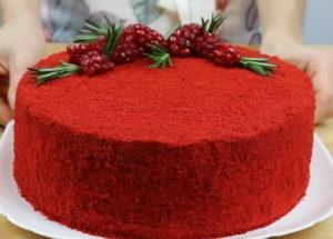 """Яркий и вкусный торт """"Красный бархат"""""""