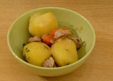 Вкусная и нежная тушеная 🥝 картошка со свининой
